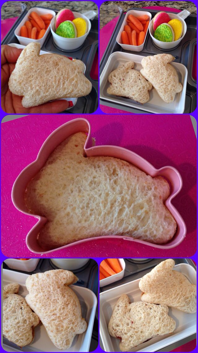 Bunny Sandwich cutouts..so cute for the little ones!!Fun Lunches, Cut Sandwiches, Fun Shape, 27 Schools, Schools Lunches, Lunches Ideas, School Lunches, Cookies Cutters, Cookie Cutters