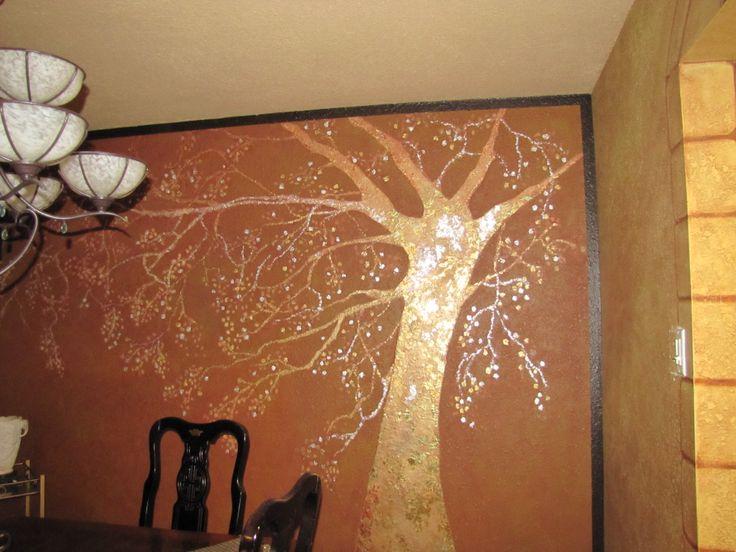 Arbol texturado con Estuco veneciano