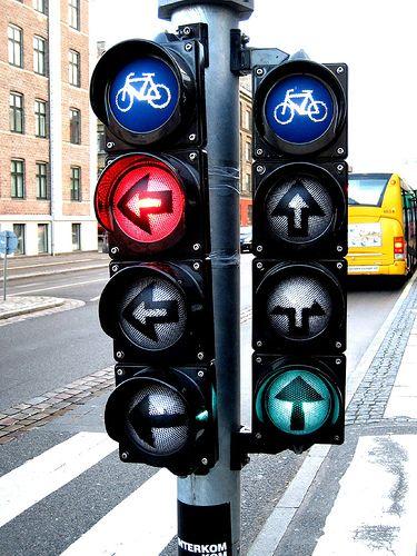 Copenhagen Bike Traffic Lights (København, Danmark, Scandinavia, Danish, Denmark, travel, Europe, city, capital, visit, beautiful, cool, awesome, bicycle, riding, cyclists)