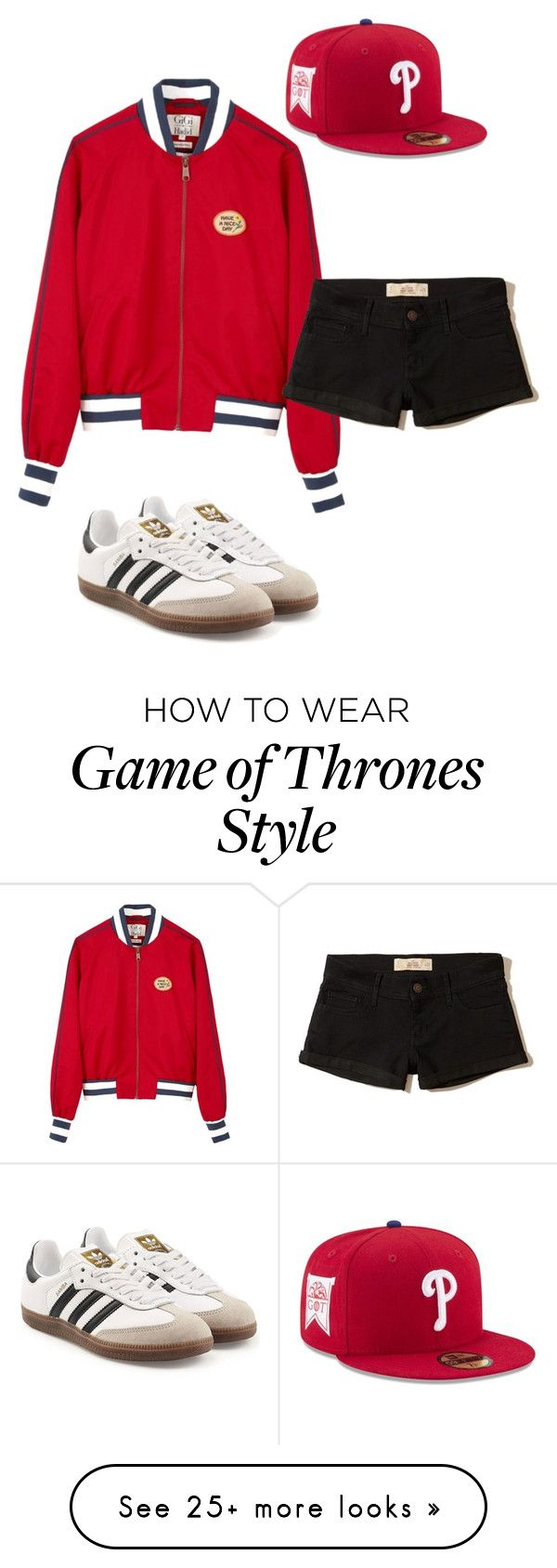 """""""Untitled #5323"""" by carlafashion-246 on Polyvore featuring Tommy Hilfiger, New Era, Hollister Co. and adidas Originals"""