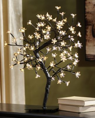 Product Details Pre Lit White Cherry Blossom Tree I Want