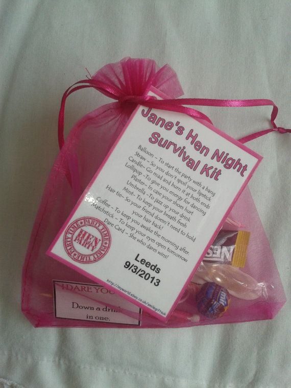Hen Night Personalised Gift Bag  Survival kit by SmileGiftsUK, £4.99