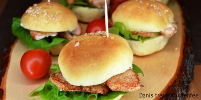Minichickenburger aus dem Thermomix, ein Hingucker für jedes Buffett