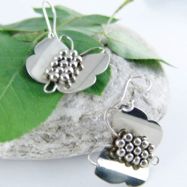 Butterflies all around! Spring is here  Earrings from silver 925 / Σκουλαρίκια από ασήμι 925 #silver #handmadejewelry  #picart #earrings #silverjewelry