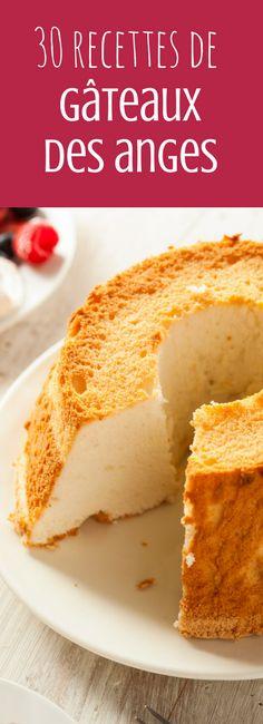 Au chocolat, à la vanille, à la rose, au litchi : 30 recettes de gâteaux des anges ou angel cake !