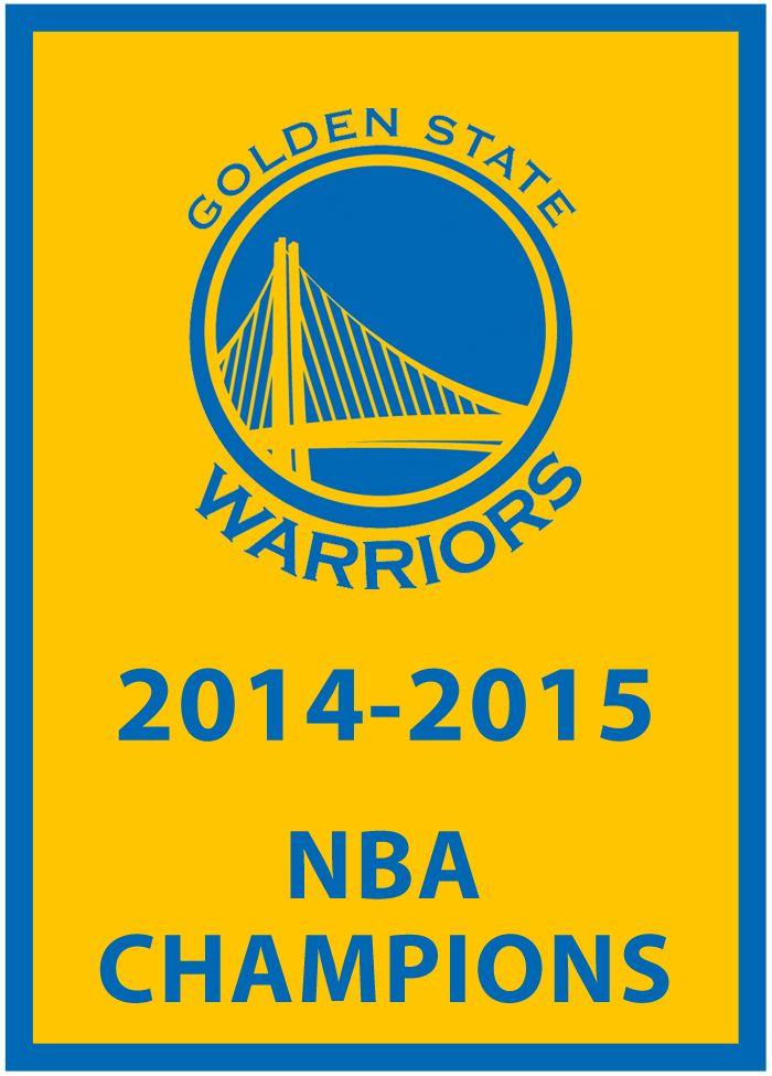Golden State Warriors Champions Logo | Golden State Warriors Championship Banner (2015) - Golden St Warriors ...