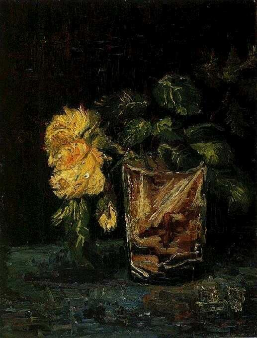 Glass with Roses  Paris: Summer, 1886  Amsterdam: Van Gogh Museum