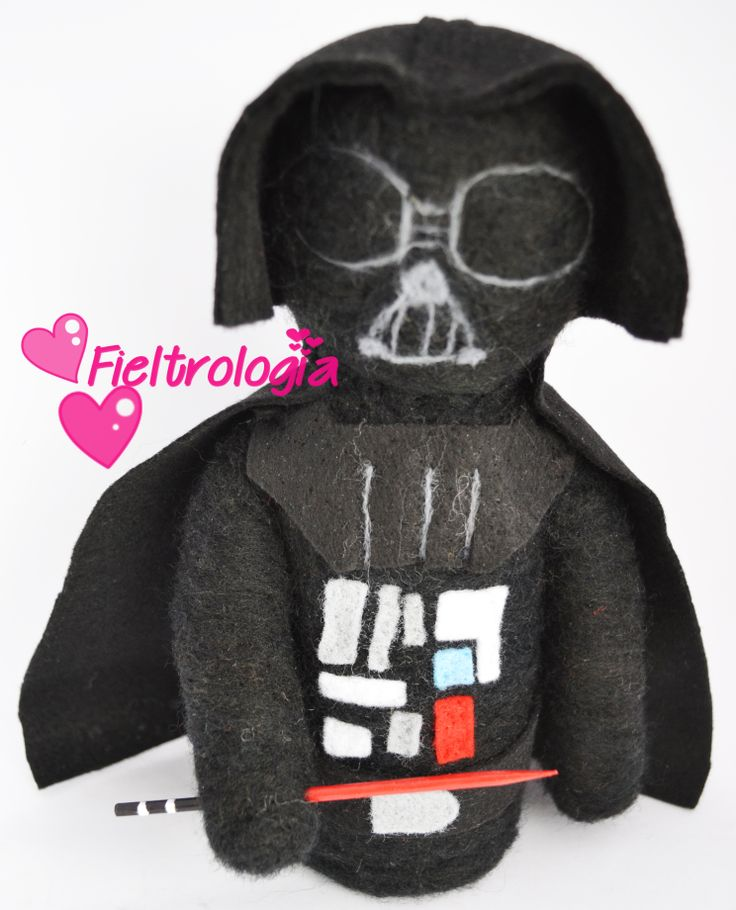 Darth Vader Needle Felt www.facebook.com/fieltrologia Chile