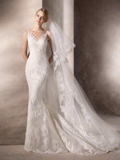 Elegant Tank V Neck Long Trumpt La Sposa Wedding Dresses Style HACINE