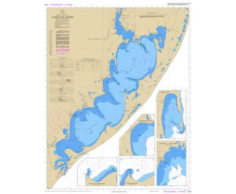 Carta Náutica no. 2140 - Lagoa Dos Patos   Velamar Loja Náutica