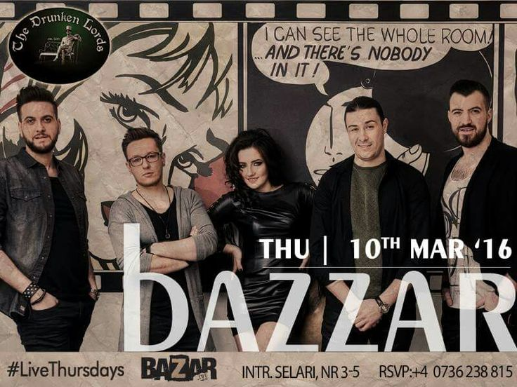 AZI, 10 februarie, începând cu orele 22:00, vă invităm la o seară de live music, alături de Trupa BAZZAR. Se anunţă o seară plină de energie şi entuziasm, într-o atmosferă pe masură.   RSVP: 0736.238.815