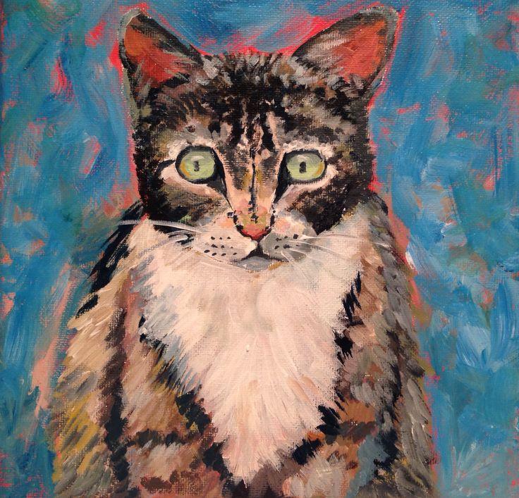 Cat Acrylic on canvas  2015