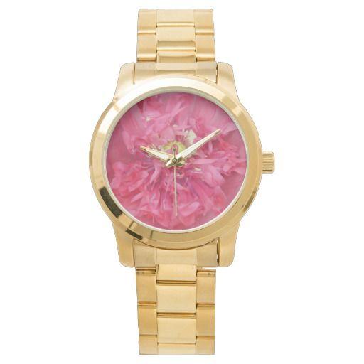 Peony flower petals wrist watch