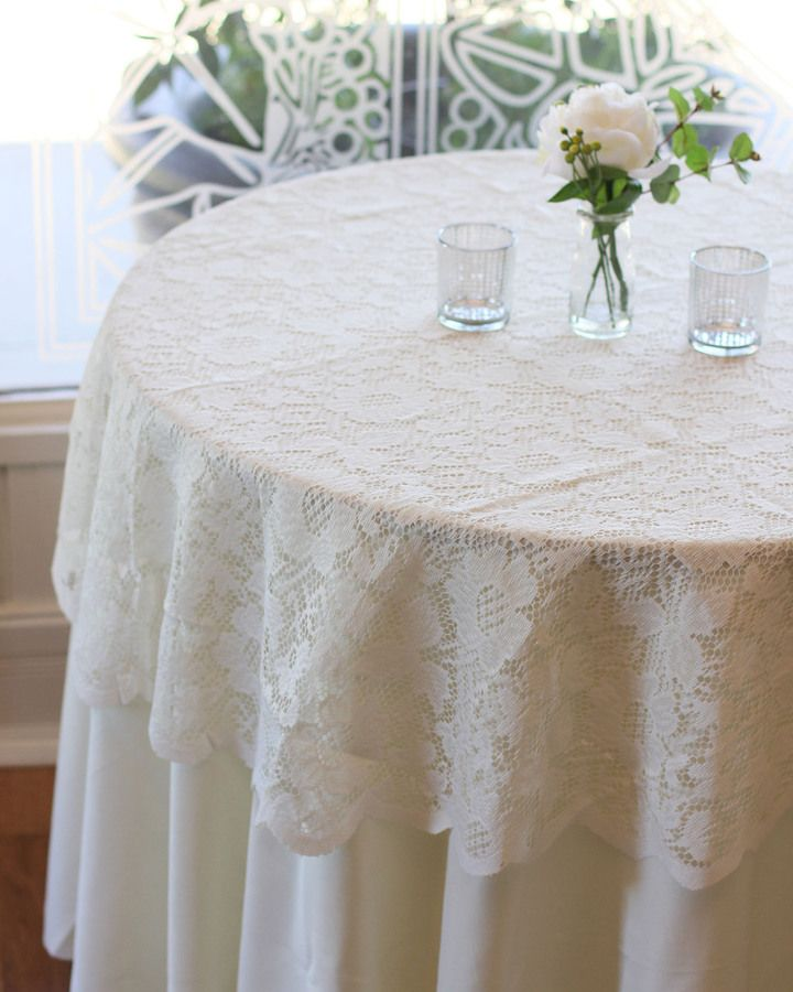 60 Inches Round Lace Tablecloth For Weddings And Events
