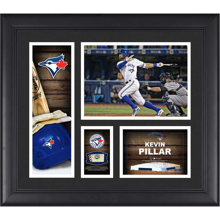 """Kevin Pillar Toronto Blue Jays Fanatics Authentic Framed 15"""" x 17"""" Player Collage with a Piece of Game-Used Ball"""