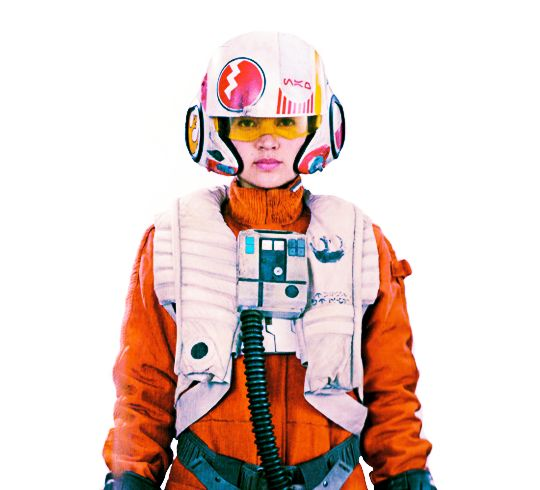 "Jessica Henwick as Jessika ""Testor"" Pava, an X-wing pilot for the Resistance under the call sign of Blue Three"