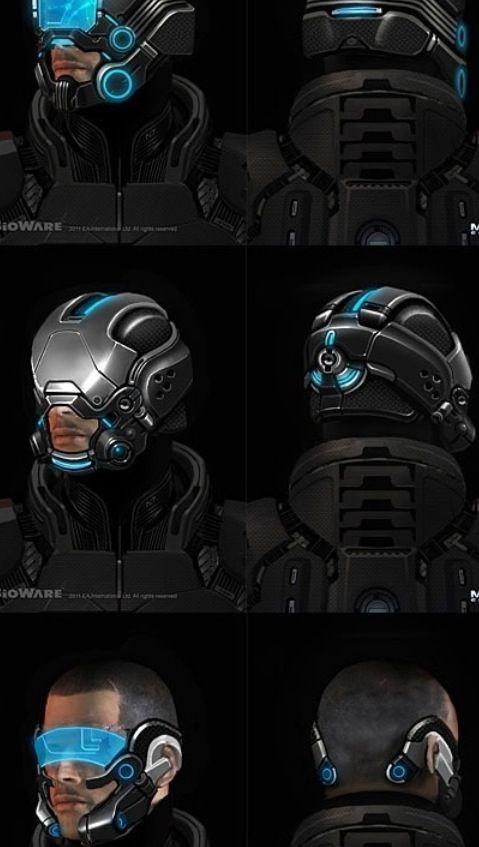 Jojo Post Digi Helmet Cyberpunk Android Robot