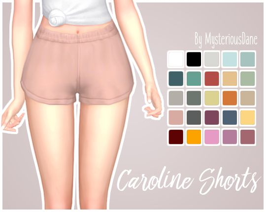 """mysteriousdane: """" Caroline Shorts Just a quick little edit of the shorts that came with Parenthood! Removed the shorts under these, made them shorter and higher waisted! If you just want the normal..."""