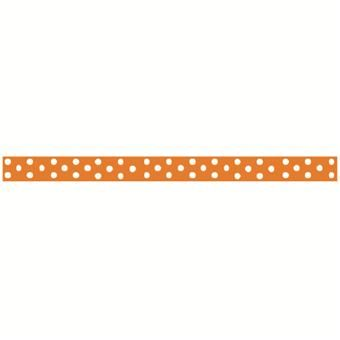 Grossgrain Ribbon 6 mm With Spots Hot Orange - sports day