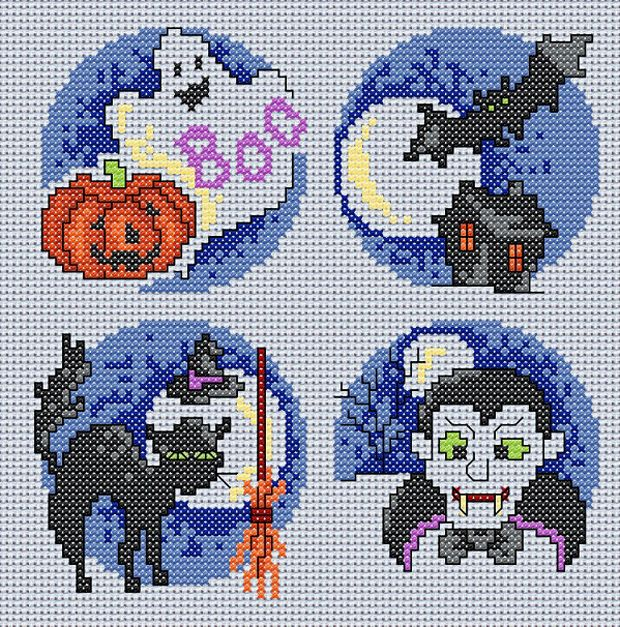 Image detail for -Maria Diaz Designs: Halloween (Cross-stitch chart)
