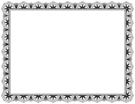Black certificate border. Free downloads available at http://pageborders.org/download/black-certificate-border/