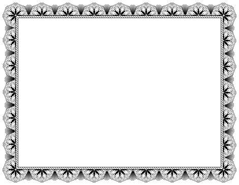 Black certificate border. Free downloads available at http://pageborders.org/download/black-certificate-border/