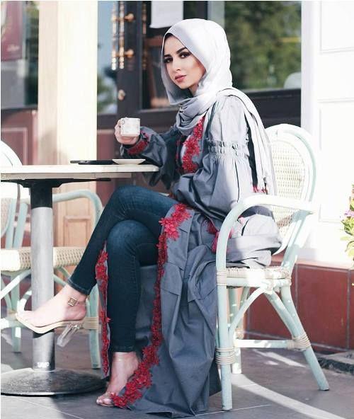 84 best Muslimah Long Cardigan images on Pinterest  Hijab