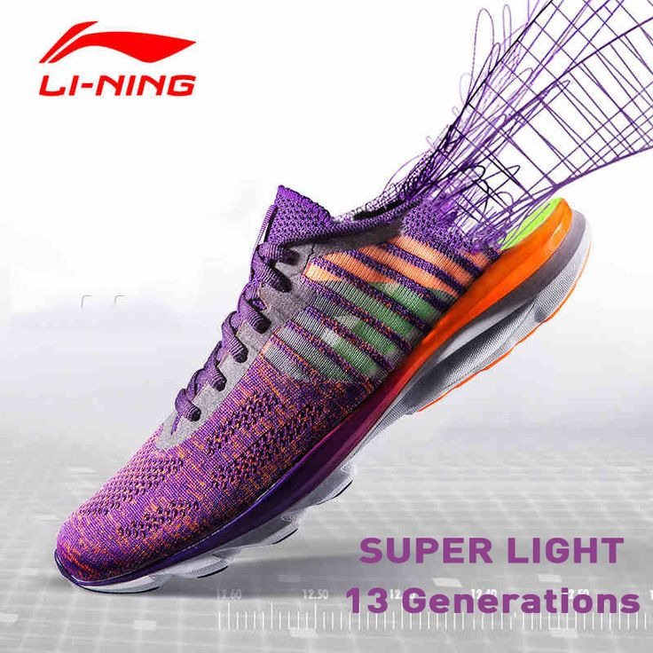 Li-Ning Men's Super Light Running Shoes Cushioning Breathable Training 3M Reflective Sneakers Sport Shoes ARBL015