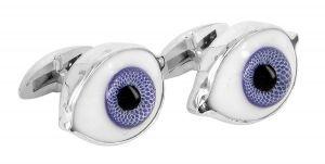 Blue eye cufflinks featuring German glass dolls eyes - $395