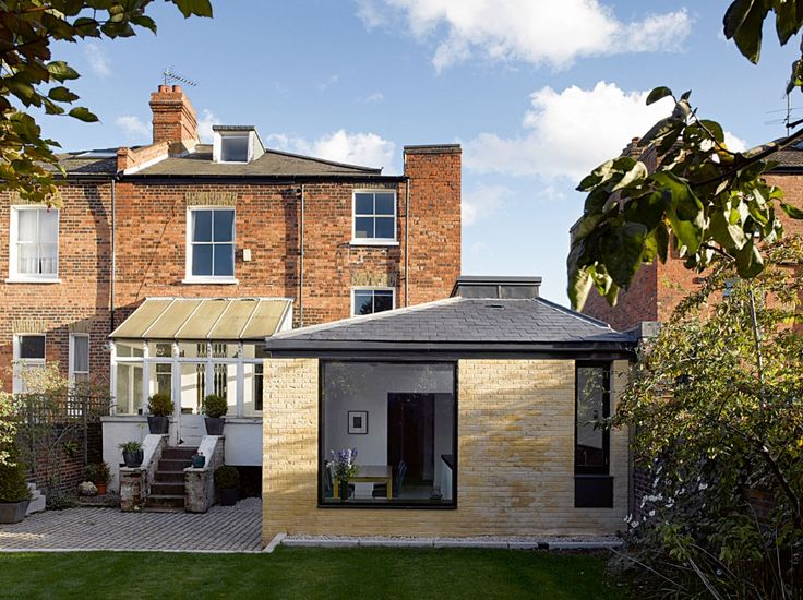 The pavilion style extension matches the victorian villa vernacular