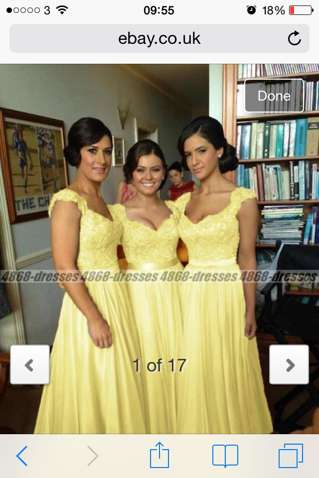 Lemon bridesmaid dresses