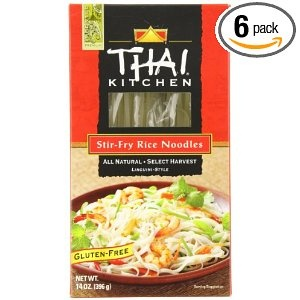 Thai Kitchen Stir Fry Rice Noodles, 14-Ounce Packages (Pack of 6)