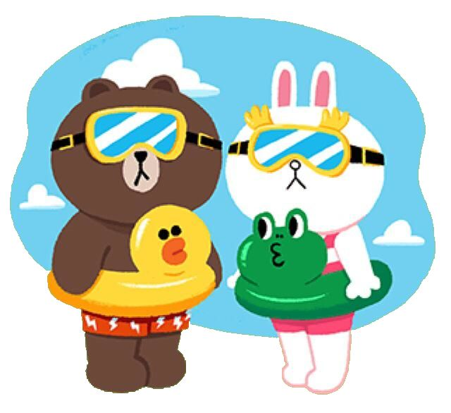 brown and cony swimming day