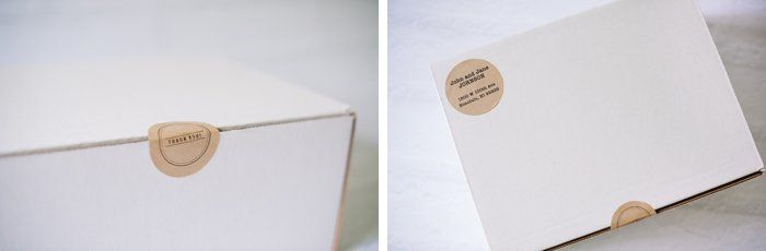 Kraft Paper Stickers - Use for Packaging, Gift Wrap, Letters, Address Labels | Hand stamped with rubber stamps and ink pads.