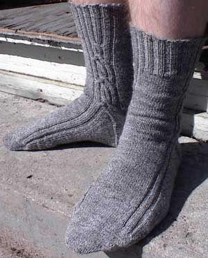 Nice guy sock pattern, from the Yarn Harlot: Socks Patterns, Guys Socks, Knits Socks
