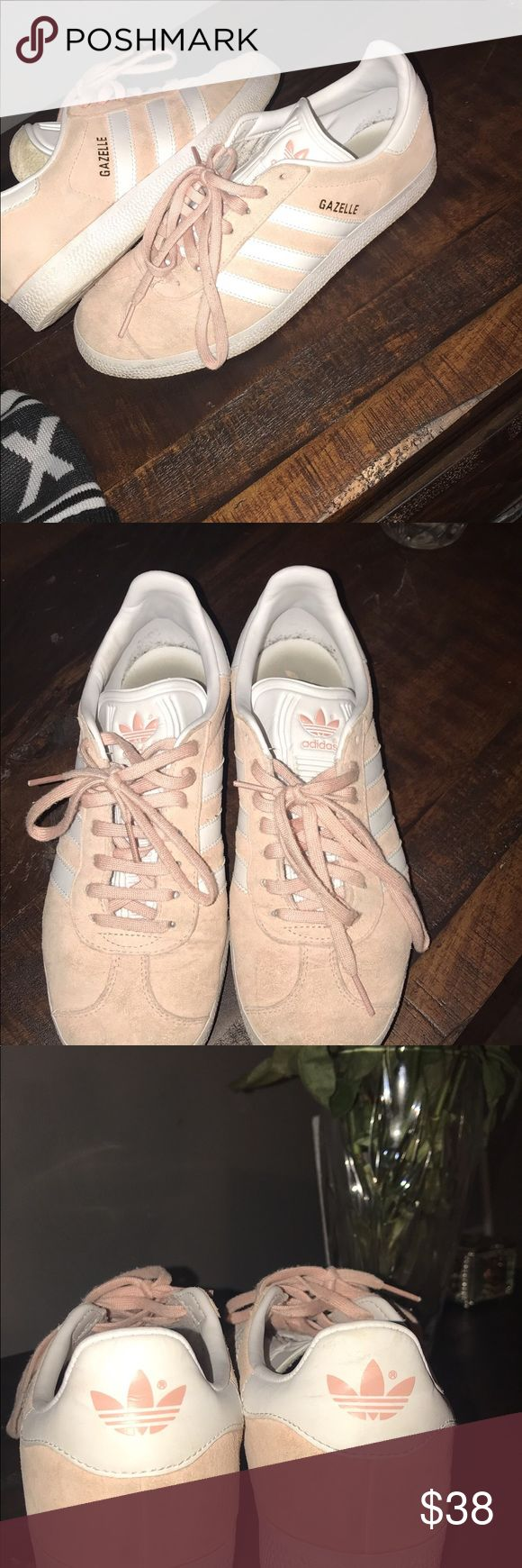 Adidas pink gazelles good condition. Only worn a handful of times. Size 8 womens adidas Shoes Athletic Shoes