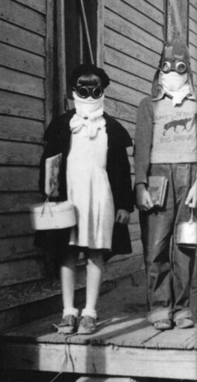Going to school during the Dust Bowl. 1930s