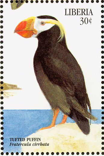 Tufted Puffin stamps - mainly images - gallery format