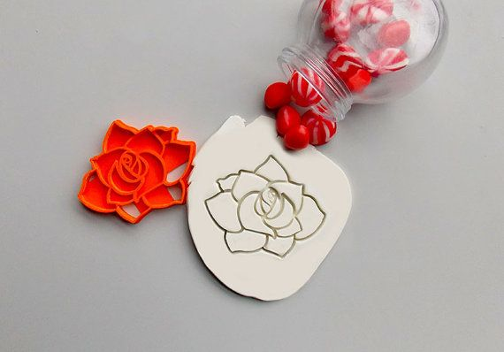 Rose Cookie Cutter. Love Rose Cookie Cutter. Flower Cookies. Brand New. Party favor