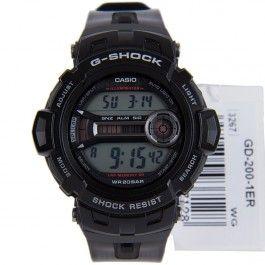G-Shock Casio Lap Memory Digital Dual Time Sports Watch GD-200-1 GD-200