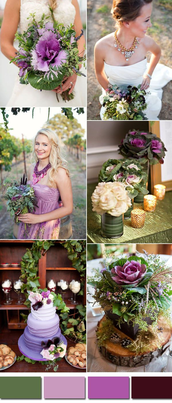 """""""A refreshing and revitalizing shade, greenery is symbolic of new beginnings."""" Such a perfect shade for a new couple, right? Greenery wedding idea is much more trendy and fashionable this year since panton..."""