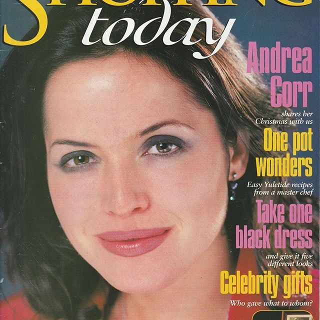 It's #throwbackthursday 1997! ❤️️ #thecorrs #corrs #andreacorr #irish #singer #songwriter #musician #magazinecover #shoppingtoday
