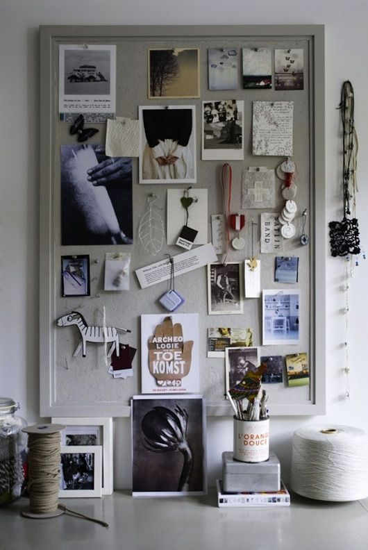 painted cork board - why didn't I think of this?!