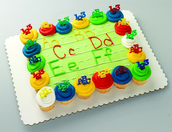 56 best back to school theme birthday party images on for Abc cake decoration