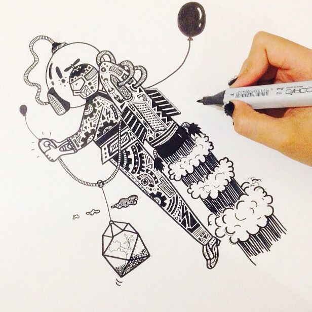 Doodling with marker✒️