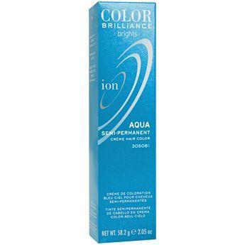 ion color brilliance semi permanent brights hair color aqua - Semi Permanent Coloration