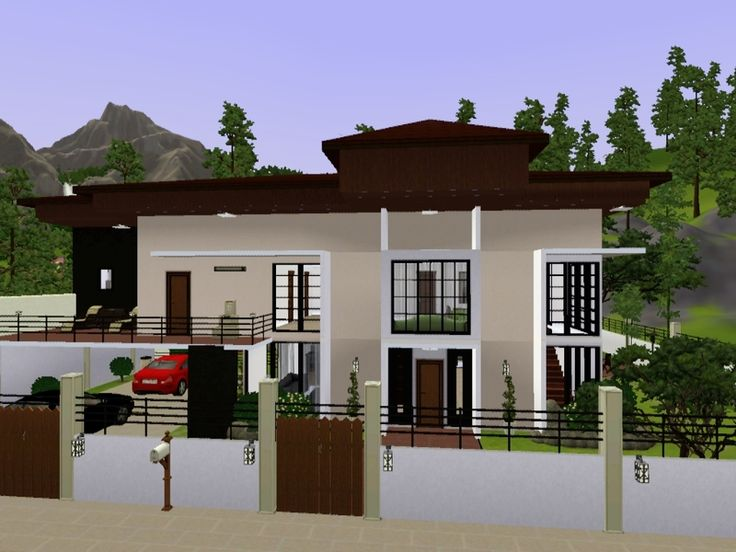 This house has a zen modern style, it has two floors, four big bedrooms, three bathrooms, academy, office, and garage. Found in TSR Category 'Sims 3 Residential Lots'