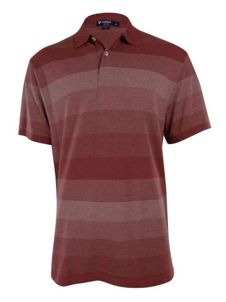 CREMIEUX Men's Classics Multi Striped Polo Shirt