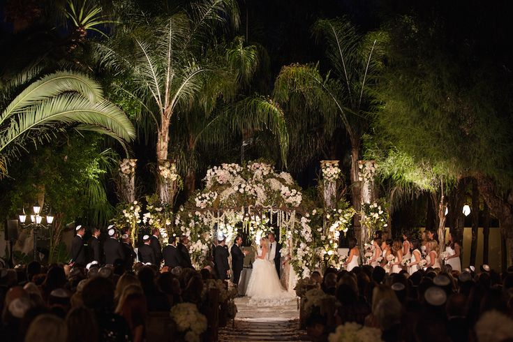 Rustic + Vintage Outdoor Ceremony & Tent Reception In Palm