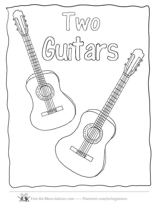 9 best Guitar Coloring Pages images on Pinterest Coloring pages